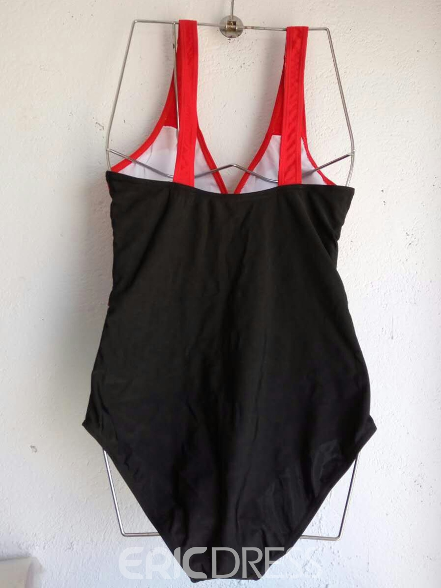 Ericdress Elegant Color Block Pleated Monokini