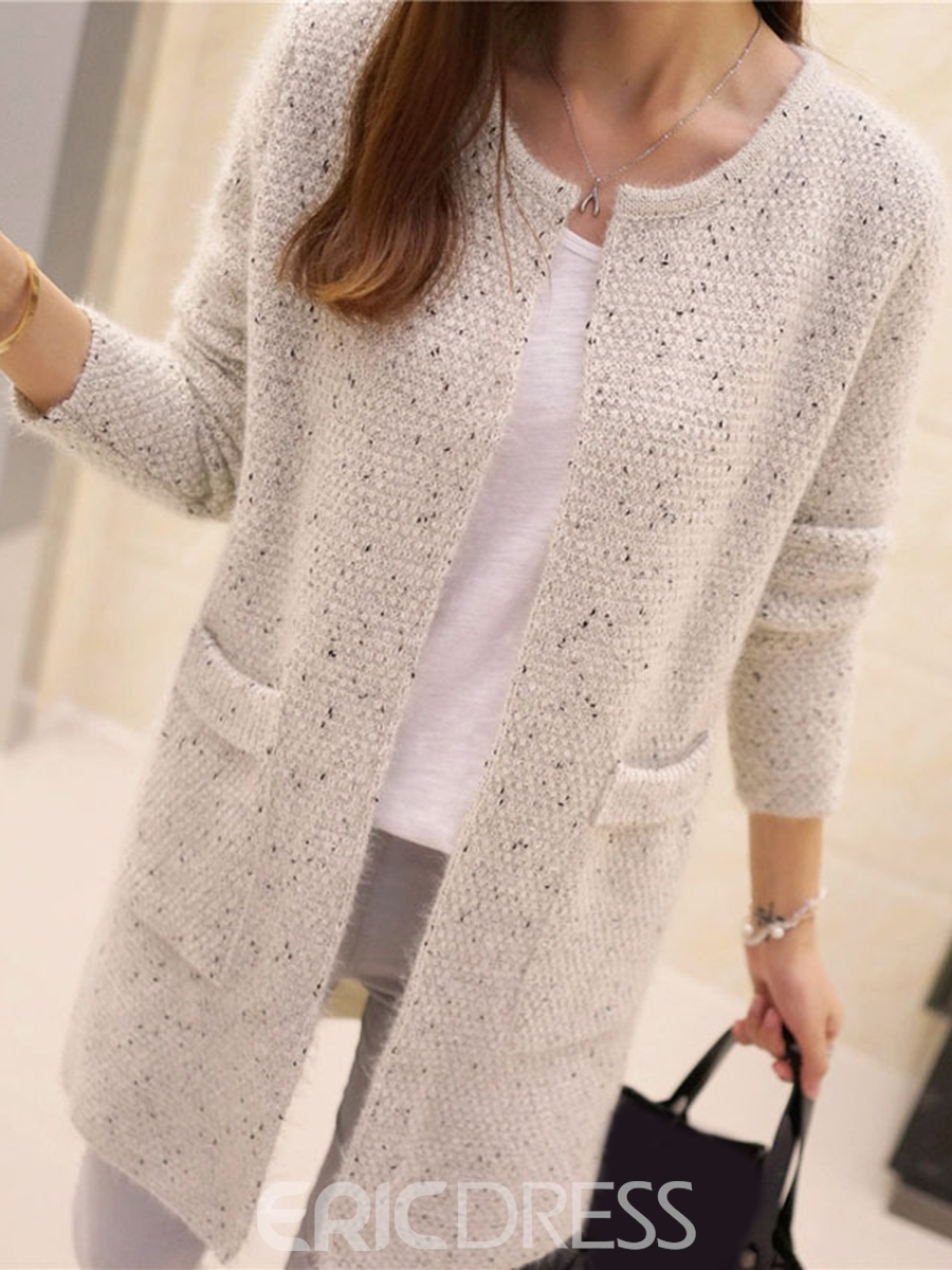 Ericdress Loose Cardigan Mid-Length Knitwear