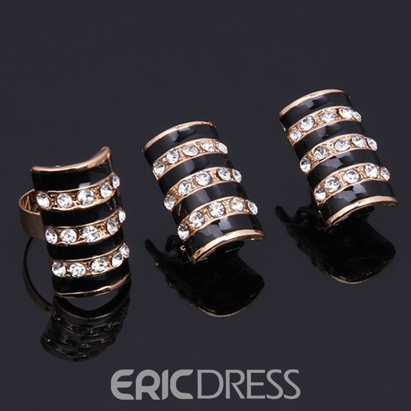 Ericdress Gold Color Wedding Jewelry Set for Women