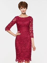 Image of Ericdress Half Sleeves Short Lace Knee Length Mother Of The Bride Dress