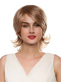 Ericdress Medium Wavy Human Hair Capless Wig 14 Inches