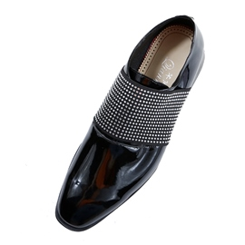 Ericdress rhinestone slip-on simple homme oxfords