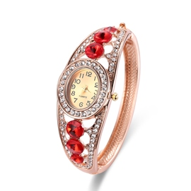 Ericdress Stunning Ruby Inlay Hollow Out Watch for Women