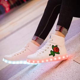 Ericdress LED Floral Embroidery Women's Sneakers