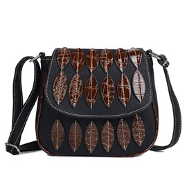 Ericdress Ethnic Style Leaf Design Crossbody Bag