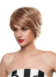 Ericdress Short Straight Layered Human Hair Capless Wig 10 Inches