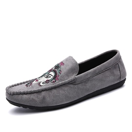 Ericdress Embroidery Low-Cut Men's Moccasin-Gommino