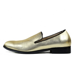 Ericdress Golden Slip-On Low-Cut Men's Oxfords