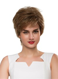 Ericdress Short Straight Layered Cool Human Hair Capless Wig 10 Inches
