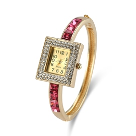 Ericdress Fabulous Ruby Inlay Square Case Diamante Watch