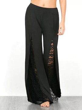 Ericdress Wide Legs Lace Hollow Pants