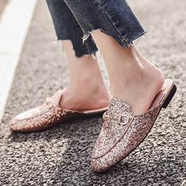 Ericdress Glitter Closed Toe Slip-On Women's Mules Shoes
