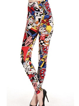 Ericdress Print Cartoon Leggings Pants