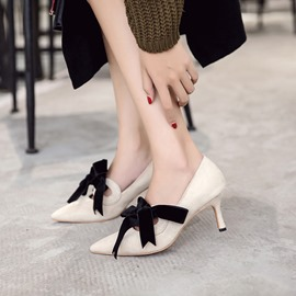 Ericdress Hollow Pointed Toe Lace-Up Women's Pumps
