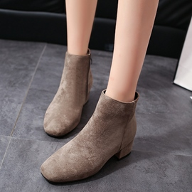 Ericdress Comfy Square Toe Plain Women's Ankle Boots