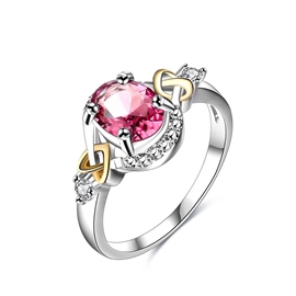 Ericdress Sweet Pink Stone Oval Cut Women's Wedding Ring