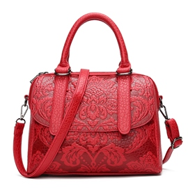 Ericdress Occident Style Floral Embossing Women Handbag