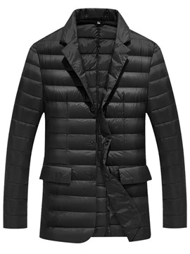 Ericdress Notched Lapel Straight Men's Down Coat