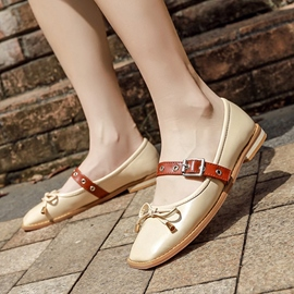 Ericdress Color Block Low-Cut Flats with Buckle