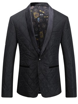 Ericdress Slim Notched Lapel Slim Men's Blazer