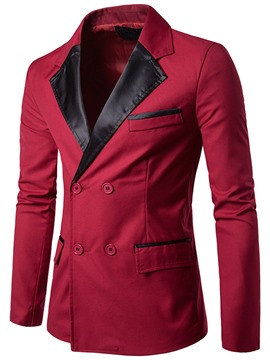 Ericdress Notched Lapel Color Block Men's Blazer