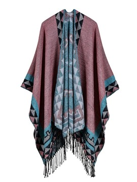 Ericdress Geometric Tassel Wrapped Cape
