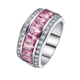 Ericdress High Quality Pink Sapphire Wedding Bands