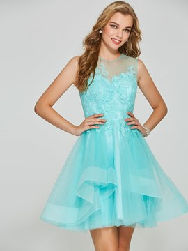 Ericdress A Line Lace Appliques Short Homecoming Dress