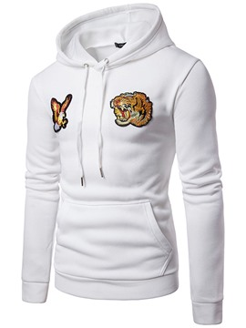 Ericdress Hooded Embroidery Slim Men's Hoodie