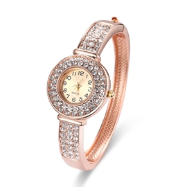 Ericdress Rose Gold Fully-Jewelled Women's Watch