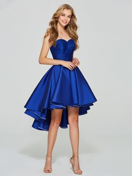 Ericdress Sweetheart Sequins Lace High Low Homecoming Dress
