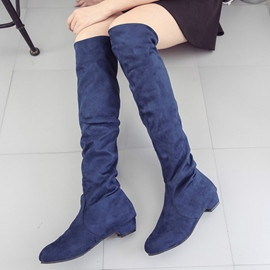 Ericdress Fashion Slip-On Plain Knee High Boots