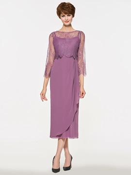 Ericdress Sheath Lace Tea Length Mother Of The Bride Dress