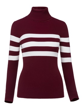 Ericdress Turtleneck Slim Stripe Knitwear