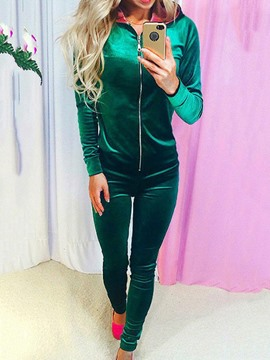 Ericdress Long Sleeves Zipper Leisure Suits