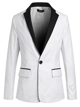 Ericdress Lapel Color Block One Button Men's Casual Blazer