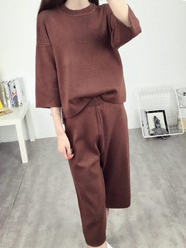 Ericdress Scoop Wide Legs Leisure Suits