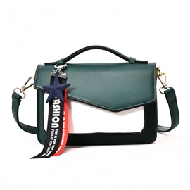 Ericdress Personality Pendant Color Block Crossbody Bag
