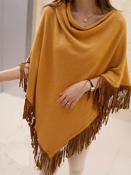 Ericdress Loose Patchwork Tassel Pullover Cape