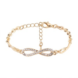 Ericdress Classic 8-Shaped Diamante Women's Bracelet