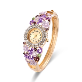 Ericdress Retro Rhinestone Flower Watch for Women