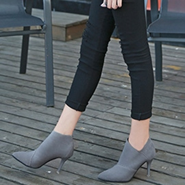 Ericdress Pointed Toe Plain Women's High Heel Boots