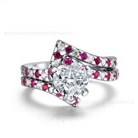 Ericdress Unique Heart Cut Diamante Women's Engagement Ring
