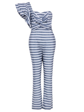 Ericdress Stripe Ruffles Women's Jumpsuit