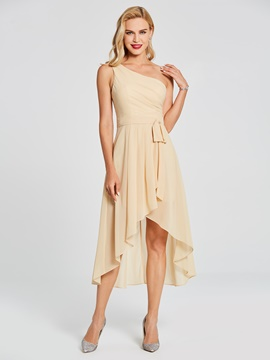 Ericdress One Shoulder A Line High Low Chiffon Bridesmaid Dress
