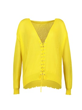 Ericdress V-Neck Thin Lace-Up Cardigan Knitwear