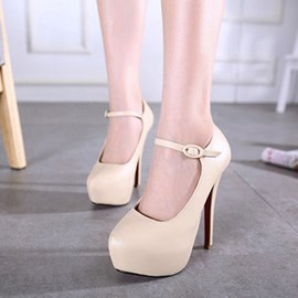 Ericdress Pointed Toe Platform Stiletto Heel Pumps