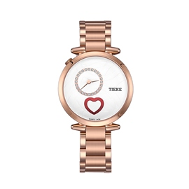 Ericdress Romantic Heart Rose Gold Women's Watch