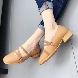 Ericdress Elastic Band Square Toe Plain Flats