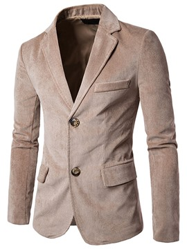 Ericdress Notched Lapel Solid Color Men's Blazer